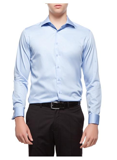 Pierre Cardin Klasik Gömlek İndigo
